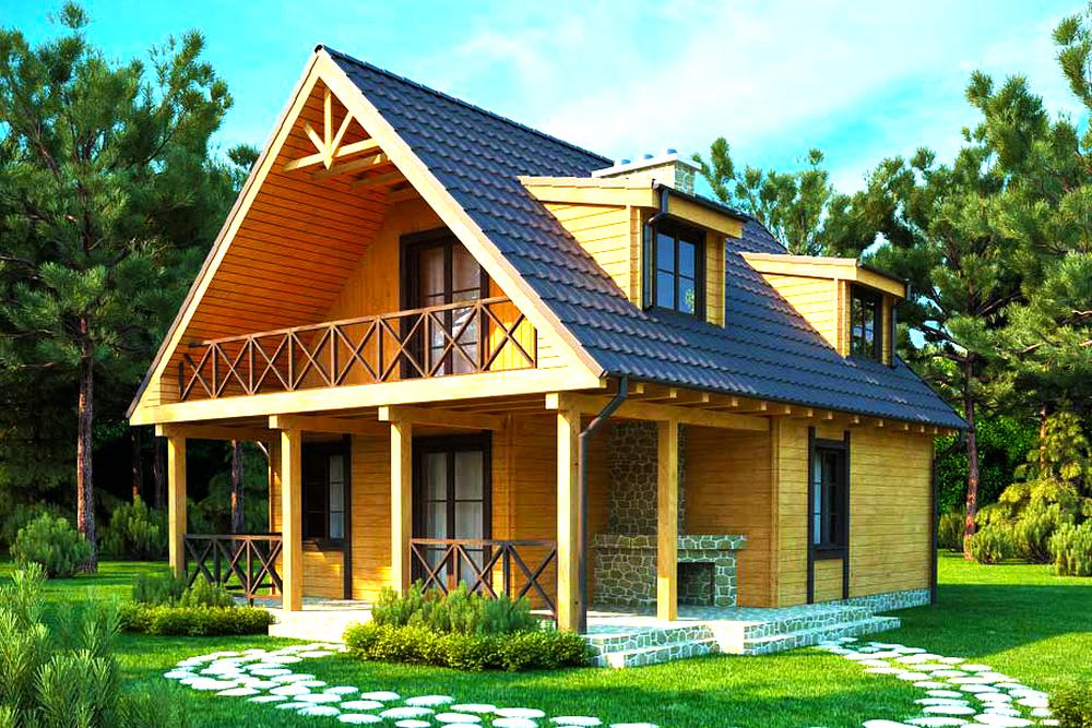 раскрасьте новые деревянные дома с мансардой фото неповторимого вкуса